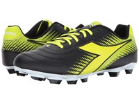 Diadora Mago L Lpu Black Yellow Flourescent Soccer Shoes Multi
