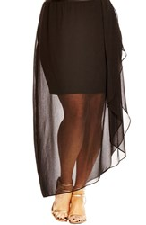 Plus Size Women's City Chic Layered Frill Skirt