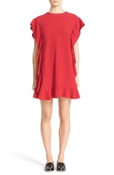 Red Valentino Women's Crepe Back Satin Ruffle Dress
