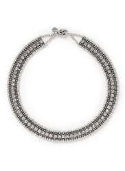 Philippe Audibert 'Roselynette' Crystal Collar Necklace White