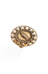 Virgins Saints And Angels Round Virgin Ring Gold