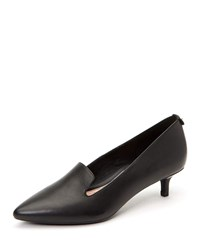 Taryn Rose Nadia Leather Kitten Heel Arch Support Pumps Black