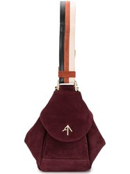 Manu Atelier Bucket Shoulder Bag Red