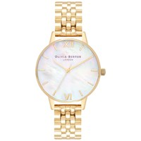 Olivia Burton 'S Mother Of Pearl Dial Bracelet Strap Watch Gold Neutral Ob16mop01