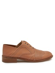 Gabriela Hearst Moll Spectator Collapsible Heel Leather Brogues Tan