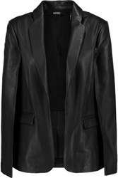 Badgley Mischka Leather Cape Black