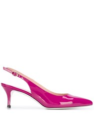 Pollini Pointed Toe Slingback Pumps Pink