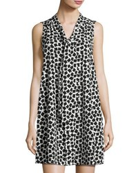 Cynthia Steffe Sleeveless Confetti Print Shift Dress Ivory