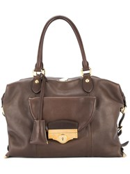 Louis Vuitton Vintage 2009 Full Order Hand Tote Bag Brown