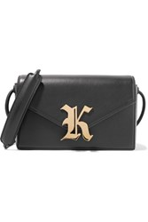 Christopher Kane Gothic K Devine Leather Shoulder Bag Black