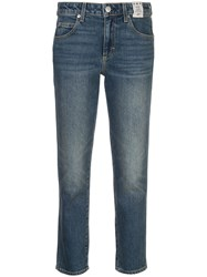 Amo Kate Mid Rise Slim Straight Jeans Blue