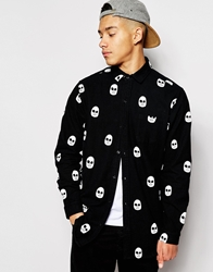 Lazy Oaf Skull Shirt Black