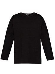 Y 3 Striped Long Sleeved Cotton Jersey T Shirt Black