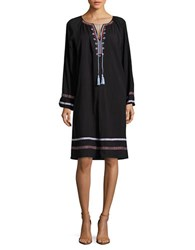 Lord And Taylor Embroidered Gauze Peasant Dress