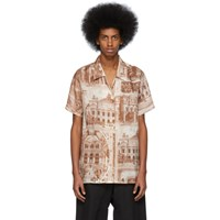 Acne Studios Brown And Off White Rellah Theatre Shirt