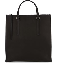 Rick Owens Mastodon Edith Vertical Shopper Leather Tote Bag Black