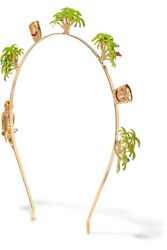 Rosantica Palma Gold Tone Enameled Headband One Size