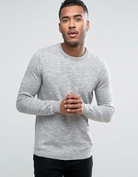 Pull And Bear Pullandbear Knitted Sweatshirt In Grey Grey