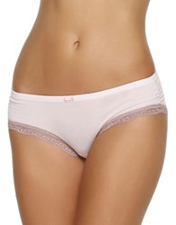 Felina Lace Trimmed Hipsters Barely Pink