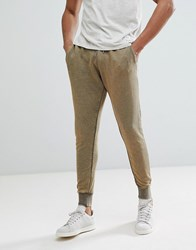 Brave Soul Washed Out Joggers Green