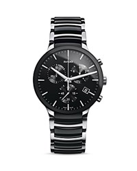 Rado Centrix Xl Quartz Chronograph High Tech Ceramic And Stainless Steel Watch 44Mm