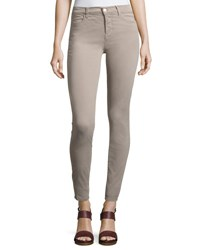 J Brand Maria High Rise Sateen Super Skinny Pants Light Gray
