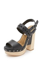 Cynthia Vincent Potent Clog Sandals Black
