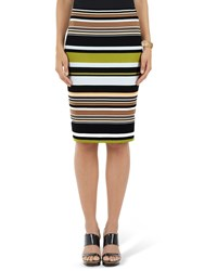 Marc Cain Stretch Stripe Skirt Multi