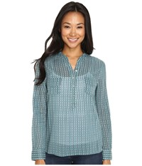 Carve Designs Dylan Chambray Shirt Spruce Alpine Women's Long Sleeve Pullover Green