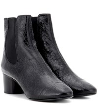 Isabel Marant Danae Patent Leather Ankle Boots Black