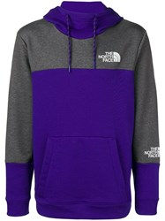 The North Face Colour Block Hoodie Blue