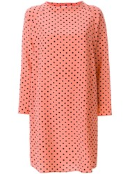Aspesi Polka Dot Dress Yellow And Orange