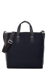 Jack Spade Kahn Wool And Genuine Leather Tote Blue