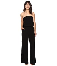 Michael Stars Modern Rayon Strapless Wide Leg Jumpsuit Black Women's Jumpsuit And Rompers One Piece