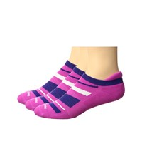 Feetures High Performance Cushion No Show Tab 3 Pair Pack Wisteria Pattern No Show Socks Shoes Pink