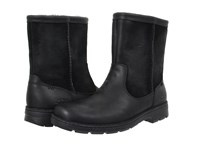 Ugg Foerster Black Leather Men's Pull On Boots
