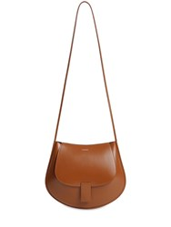 Jil Sander Sm Crescent Leather Bag Caramel