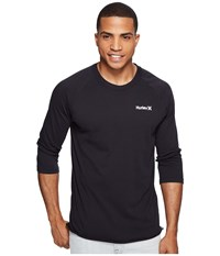 Hurley One And Only 3 4 Dri Fit Raglan Black Men's Clothing