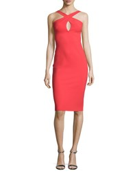La Petite Robe Di Chiara Boni Nooren Sleeveless Grecian Cocktail Dress Aragosta Orange