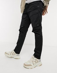 G Star Front Pocket Slim Cargo Trousers In Black