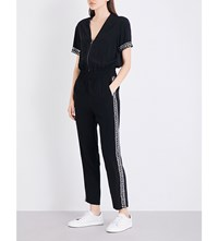 The Kooples Combinaison Embellished Jumpsuit Bla01