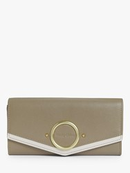 See By Chloe Aura Leather Long Wallet Motty Grey