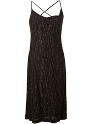 Versus Vintage Beaded Slip Dress Brown