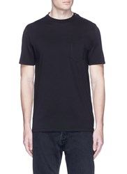 Maison Martin Margiela Snap Button Trim T Shirt Black