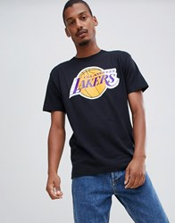 Mitchell And Ness Los Angeles Lakers T Shirt In Black