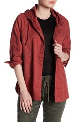 Supplies By Unionbay Lexie Twill Hooded Jacket Red