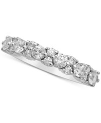 Macy's Diamond Cluster Band 1 Ct. T.W. In 14K White Gold
