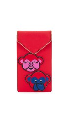 Rebecca Minkoff Lycee Monkey Sticker Set Pouch Chinese New Year Red
