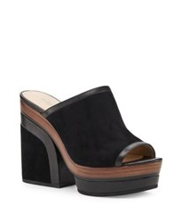 Botkier Pippa Leather Mules Black