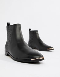 be316062b Ted Baker Leather Chelsea Boots Black